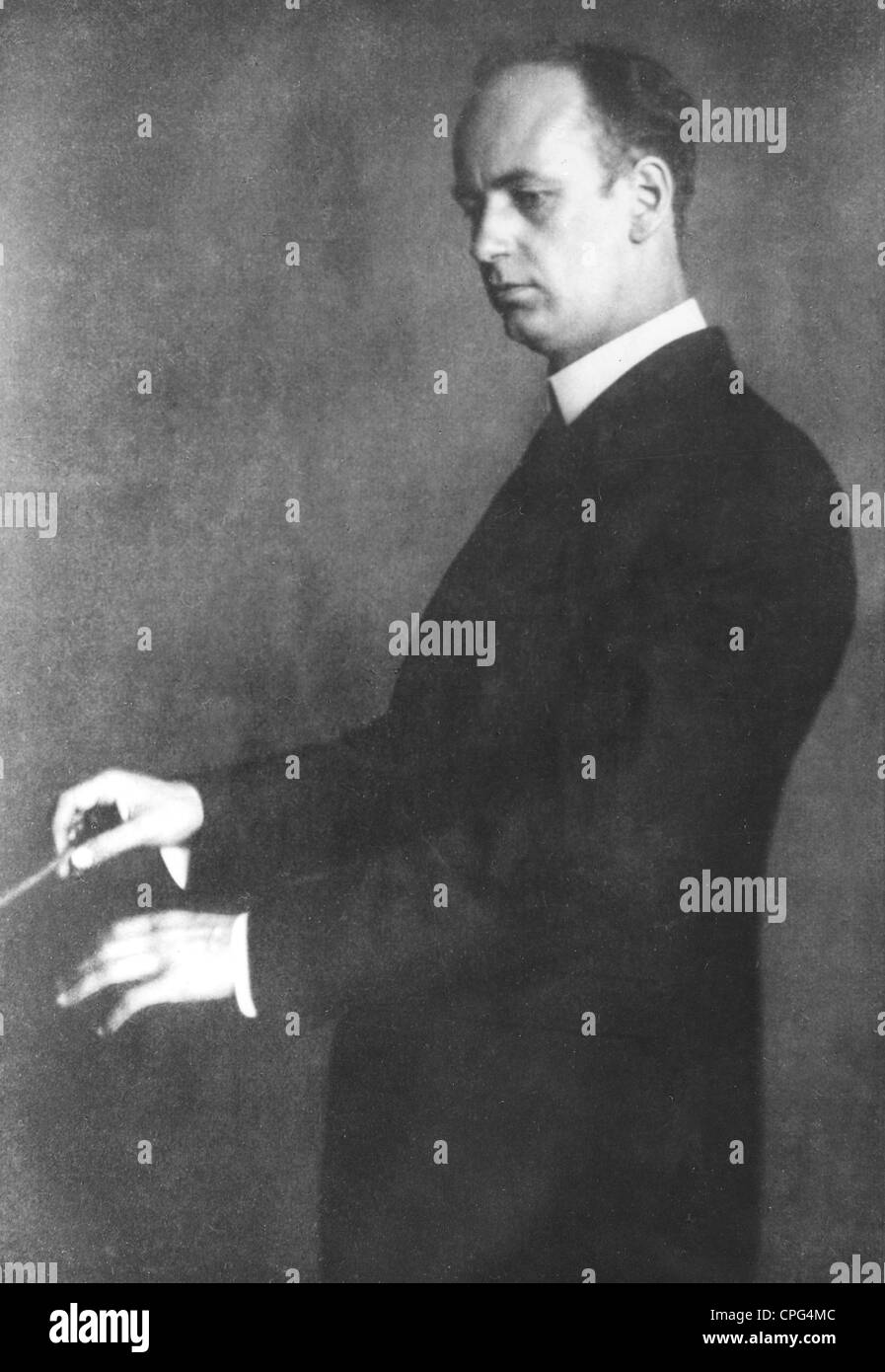 Furtwaengler, Wilhelm, 25.1.1886 - 30.11.1954, German musician (conductor, composer), half length, Additional-Rights - Stock Image