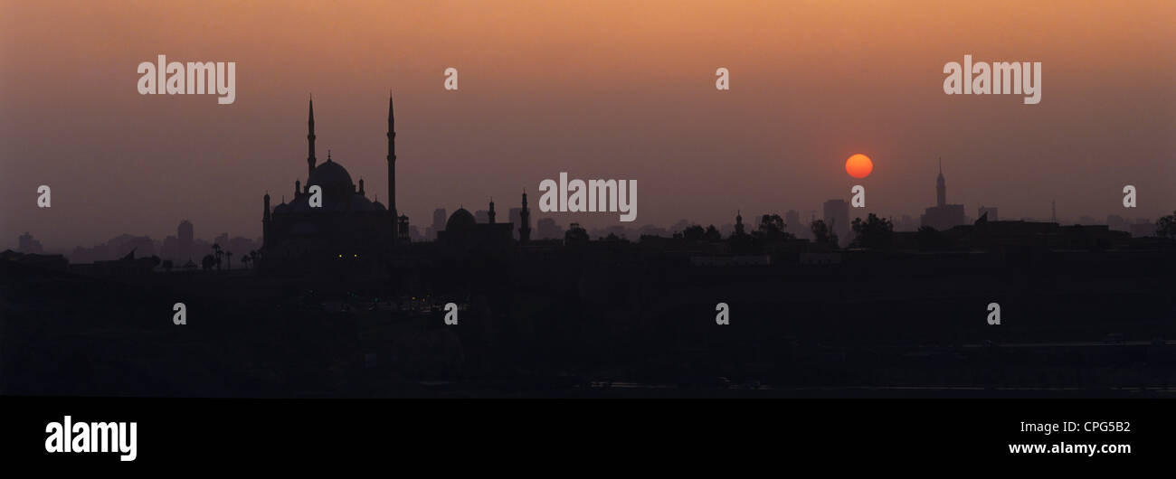 Egypt. Cairo. City skyline at sunset. Stock Photo