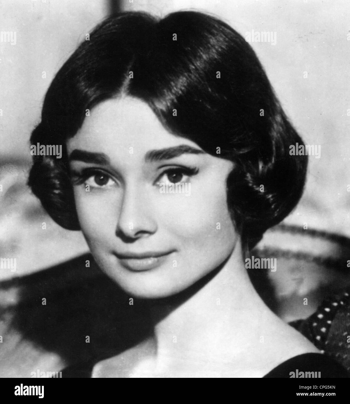 Hepburn, Audrey, 4.5.1929 - 20.1.1993, British actress, portrait, circa 1950s, Additional-Rights-Clearances-NA - Stock Image