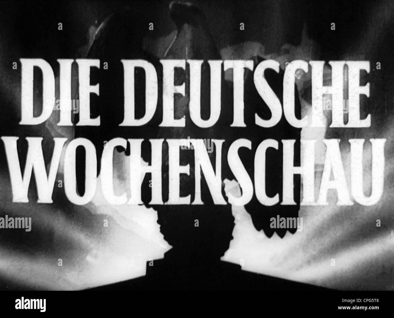 Nazism / National Socialism, propaganda, film, 'Die Deutsche Wochenschau' (German wartime newsreel), 1940 - Stock Image