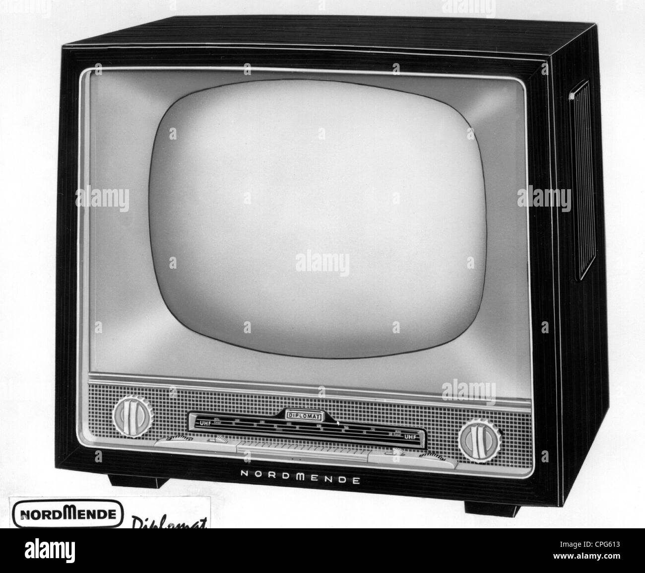 broadcast television television set nordmende diplomat 1950s