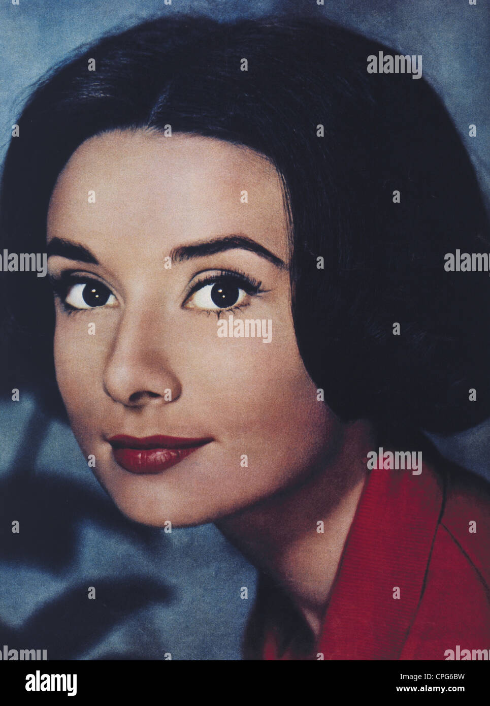 Hepburn, Audrey, 4.5.1929 - 20.1.1993, British actress, portrait, 1958, , Additional-Rights-Clearances-NA - Stock Image