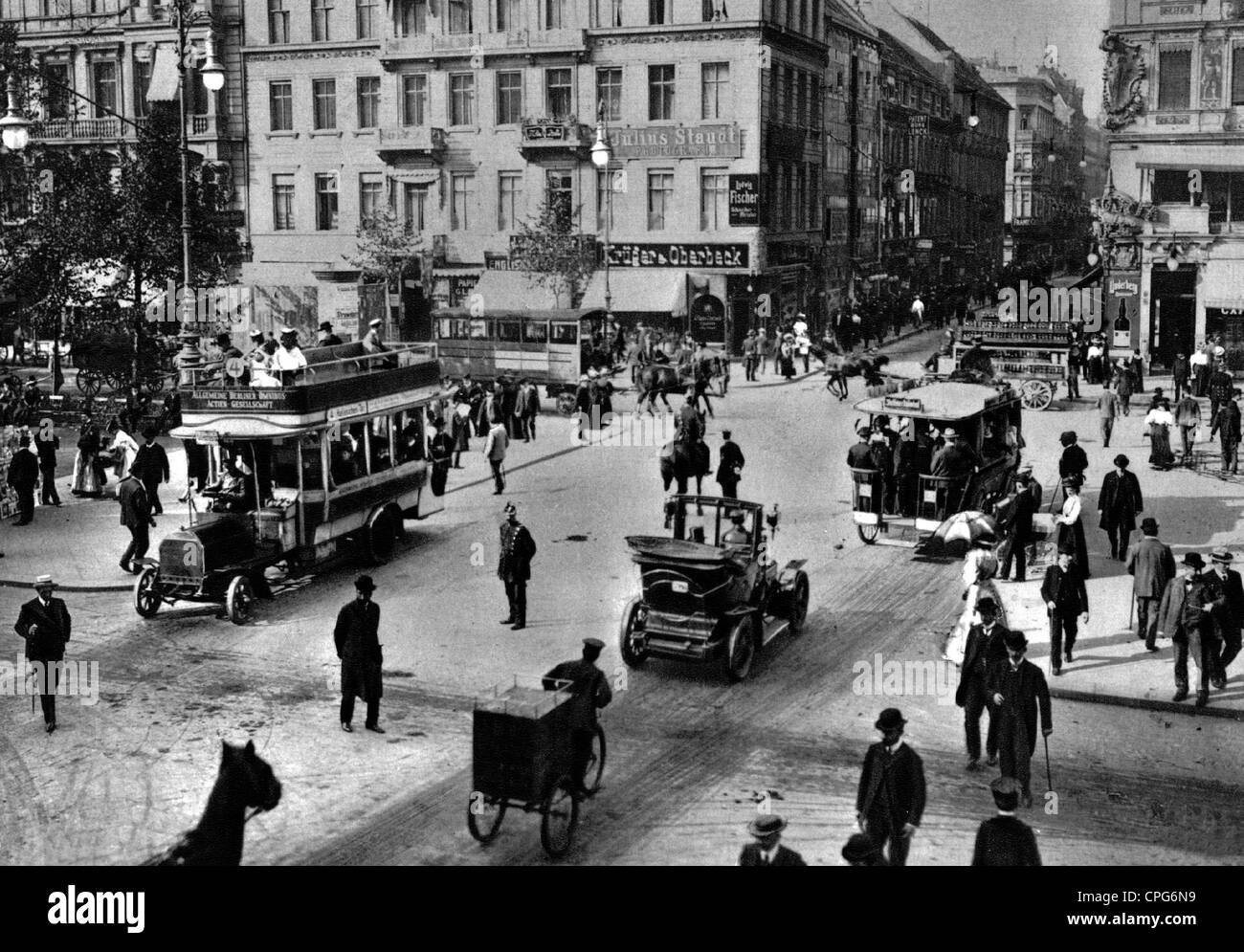 geography / travel, Germany, Berlin, streets, Unter den Linden - Friedrichstrasse, before the First World War, street - Stock Image