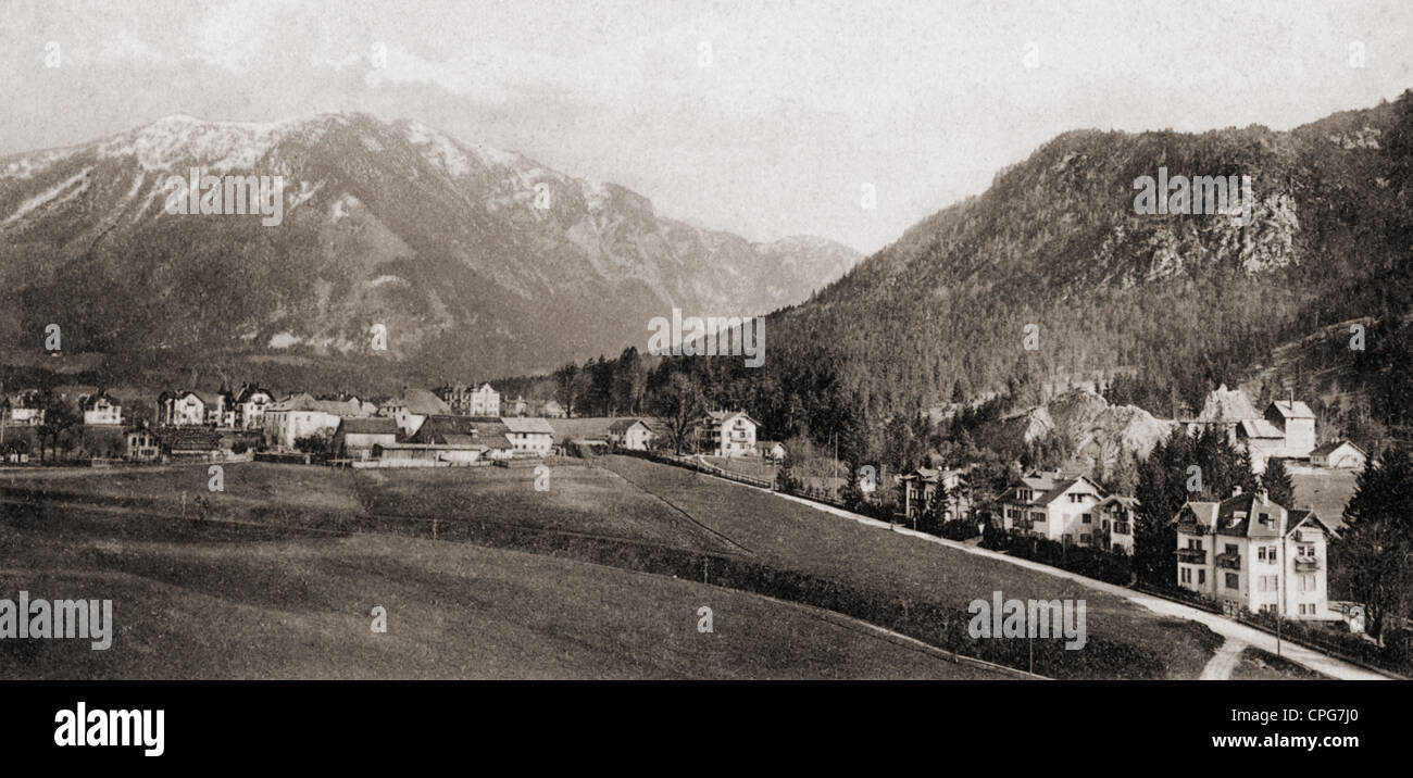 geography / travel, Germany, Bayerisch Gmain, townscape, 1905, Additional-Rights-Clearences-NA - Stock Image