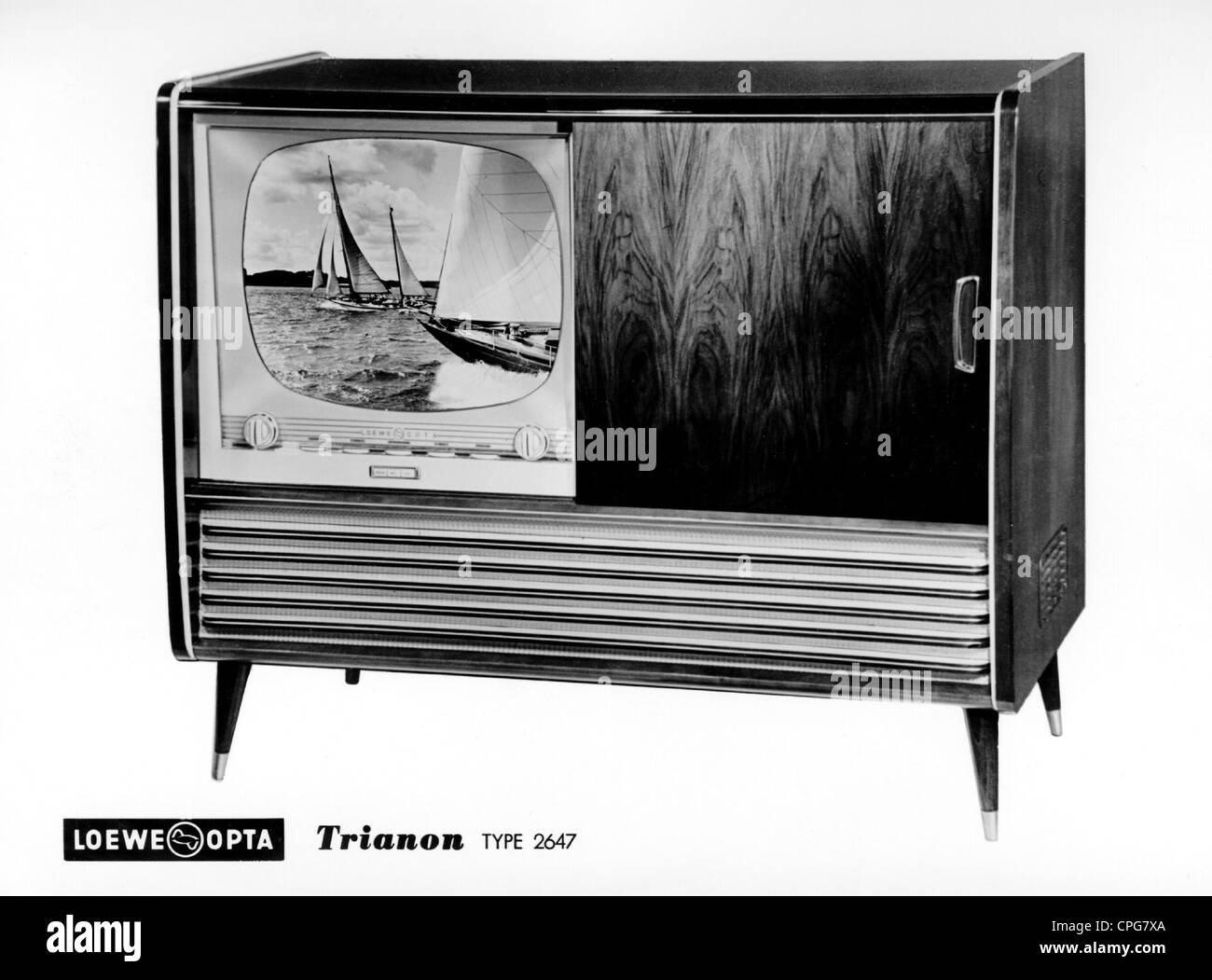 "broadcast, television, tv set ""Trianon"" (Type 2647), 1950s, ,  Additional-Rights-Clearences-NA"