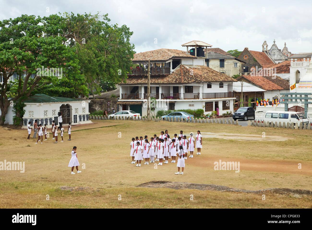 Schoolchildren, Galle, Sri Lanka, Asia Stock Photo