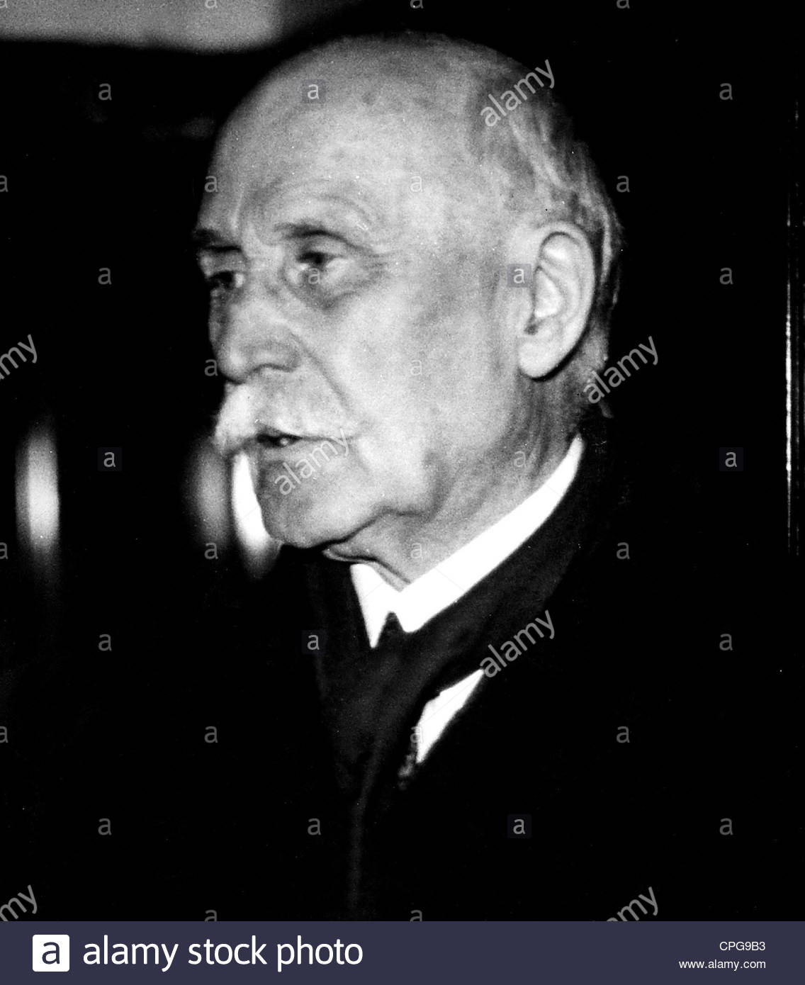 Petain, Henri Philippe, 24.4.1856 - 23.7.1953, French general, politician, portrait, 1945, Additional-Rights-Clearances - Stock Image