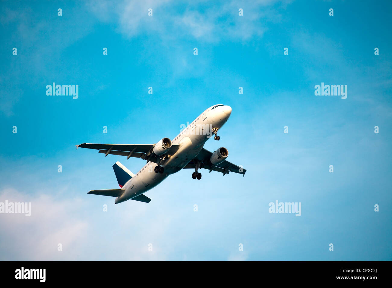 Commercial airplane take off - Stock Image