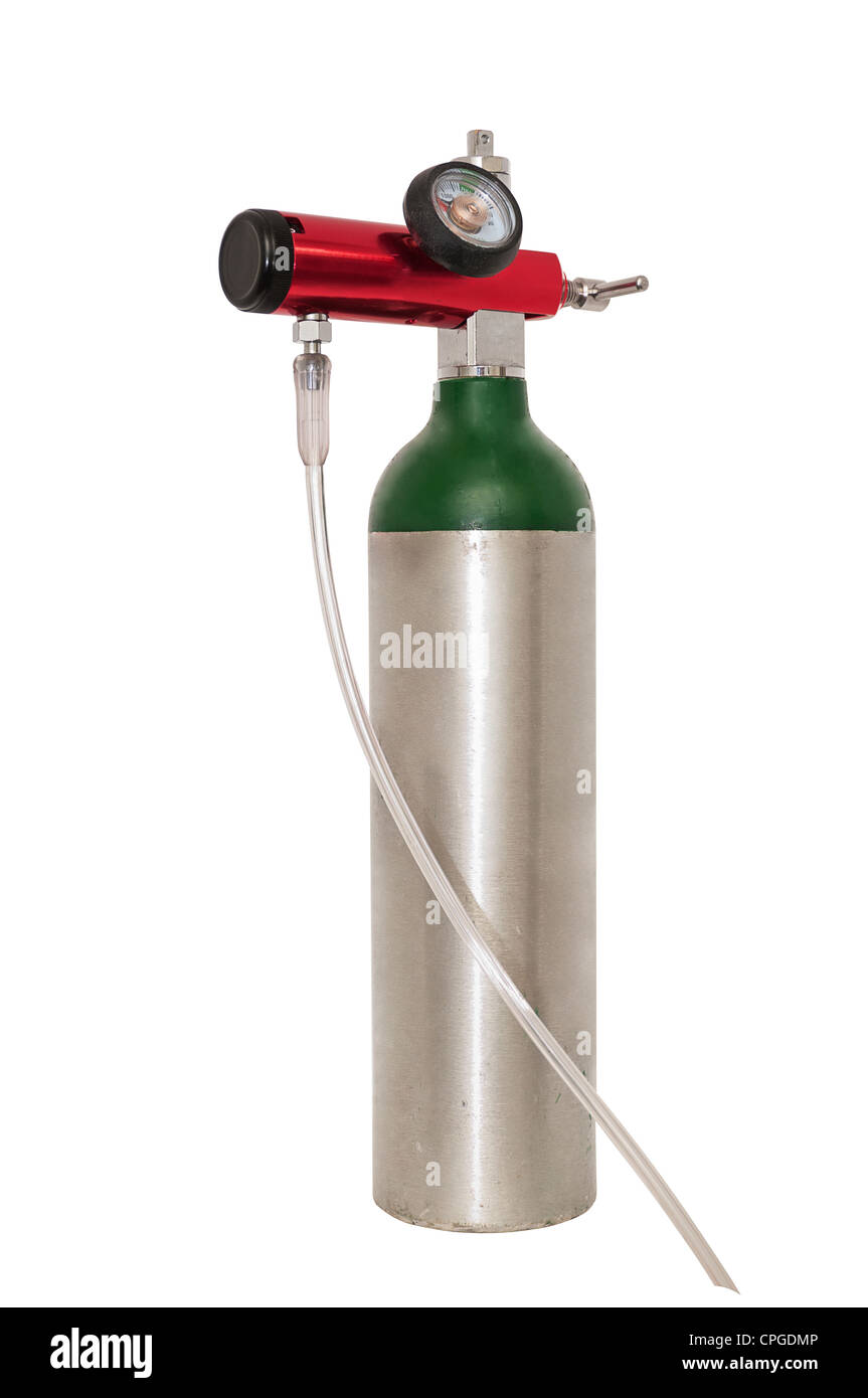 Portable Oxygen Tank With Regulator For Use With Copd Or Emphysema