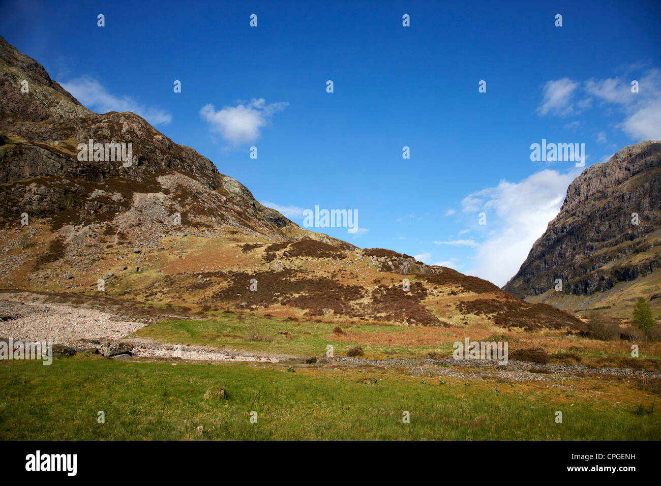 the clachaig gully lower edge at aonach eagach at the entrance to Glencoe highlands scotland uk - Stock Image