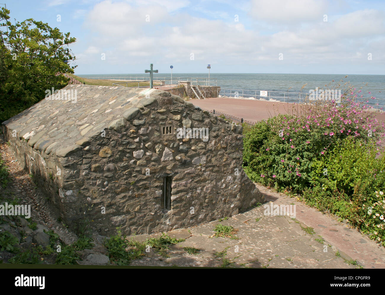 St Trillo chapel Rhos on Sea Conway Wales - Stock Image