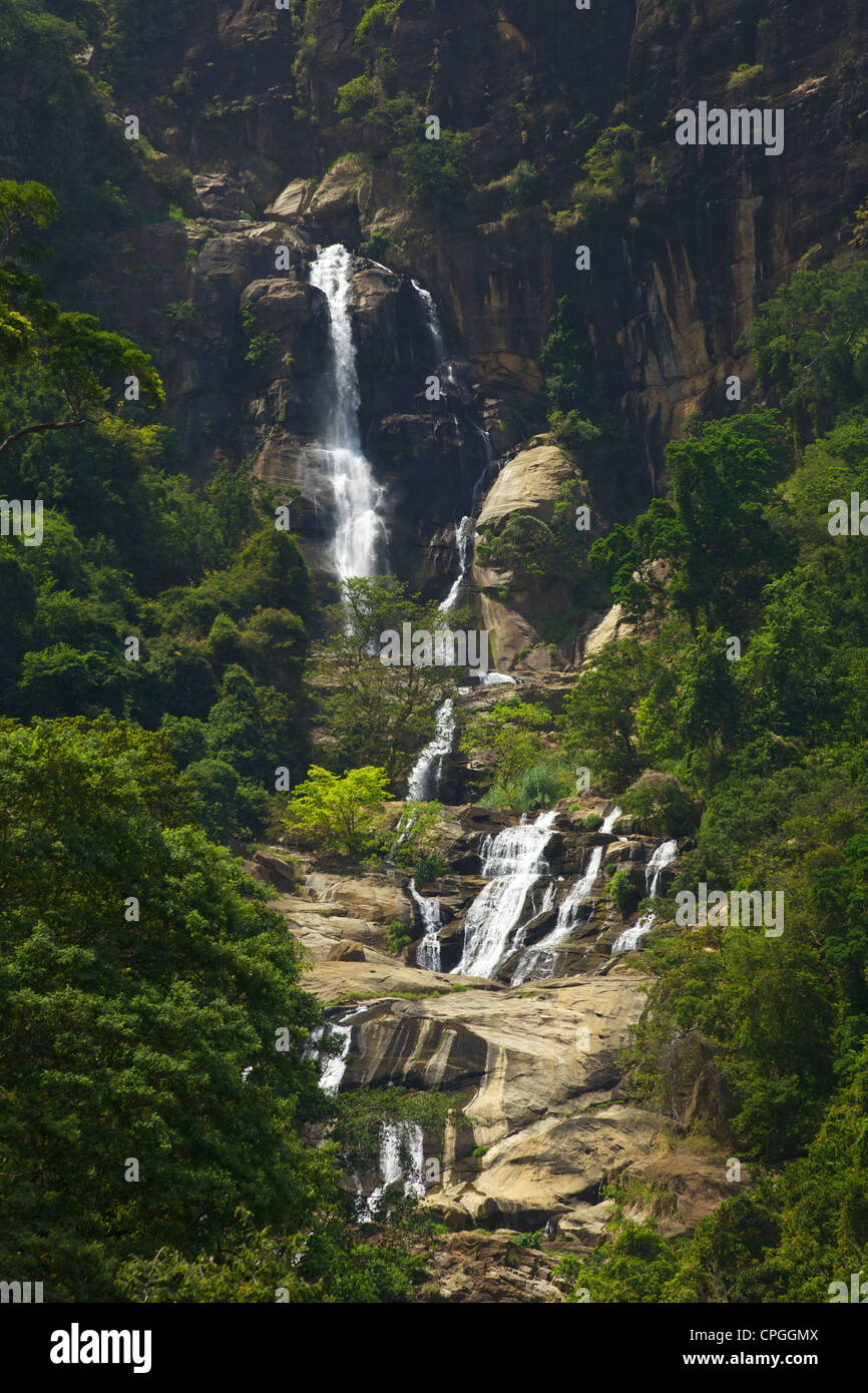 Rawana Ella Falls, Sri Lanka, Asia Stock Photo