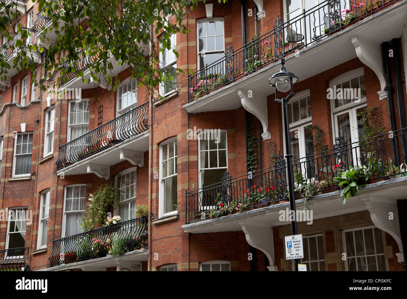 Victorian buildings - London - Stock Image
