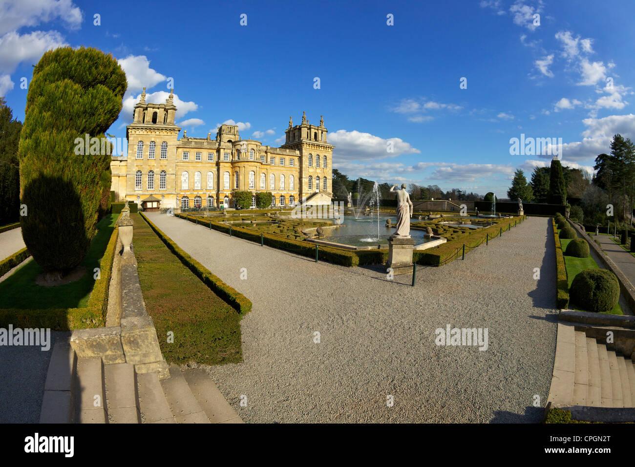 Blenheim Palace, Woodstock, Oxfordshire, England, UK, United Kingdom, British Isles, GB, Great Britain, Europe - Stock Image