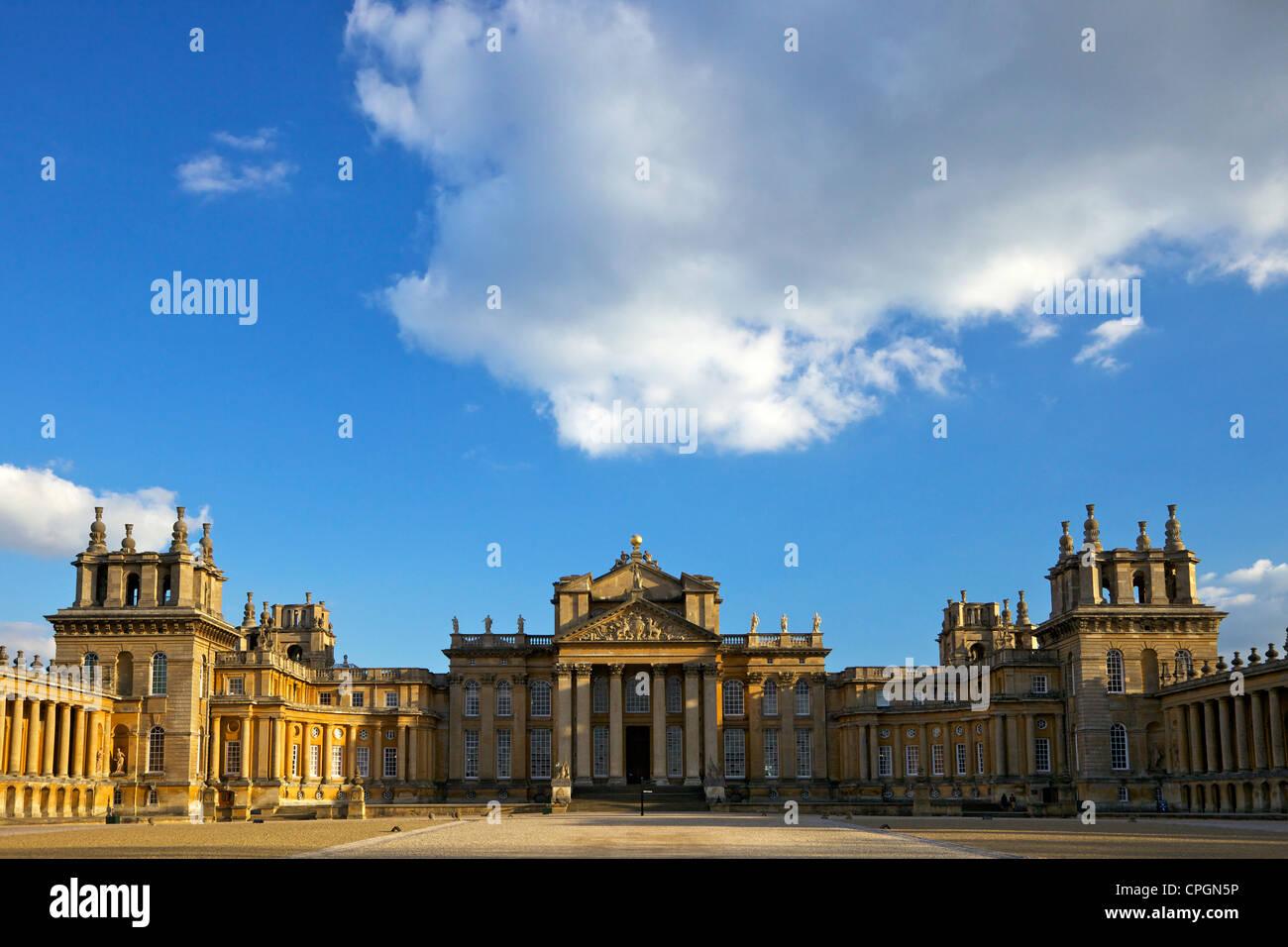 Great Court of Blenheim Palace, birthplace of Sir Winston Churchill, Woodstock, Oxfordshire, England, UK, United - Stock Image