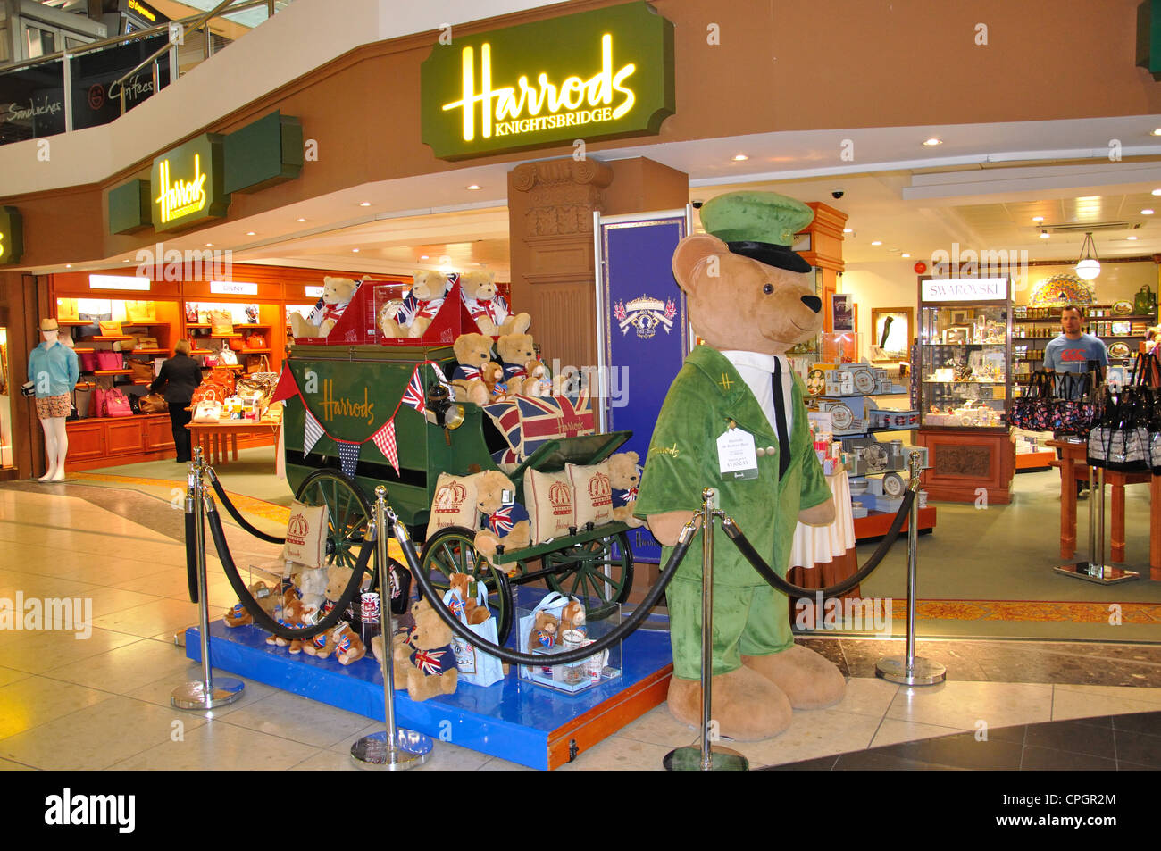 Harrods store at North Terminal, London Gatwick Airport, Crawley, West Sussex, England, United Kingdom - Stock Image