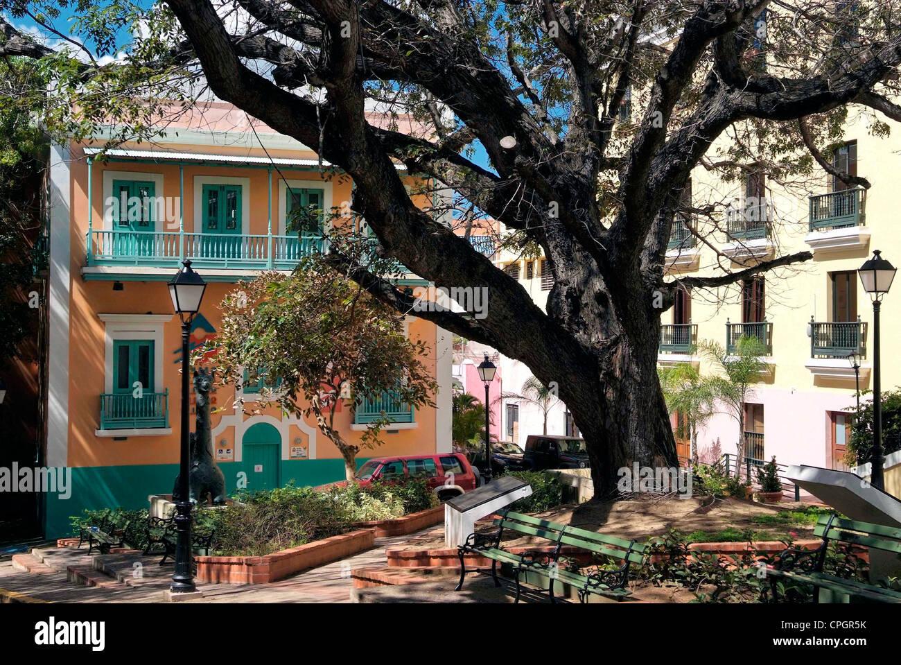 PUERTO RICO -  SAN JUAN - The Old Town Del Cristo - Stock Image