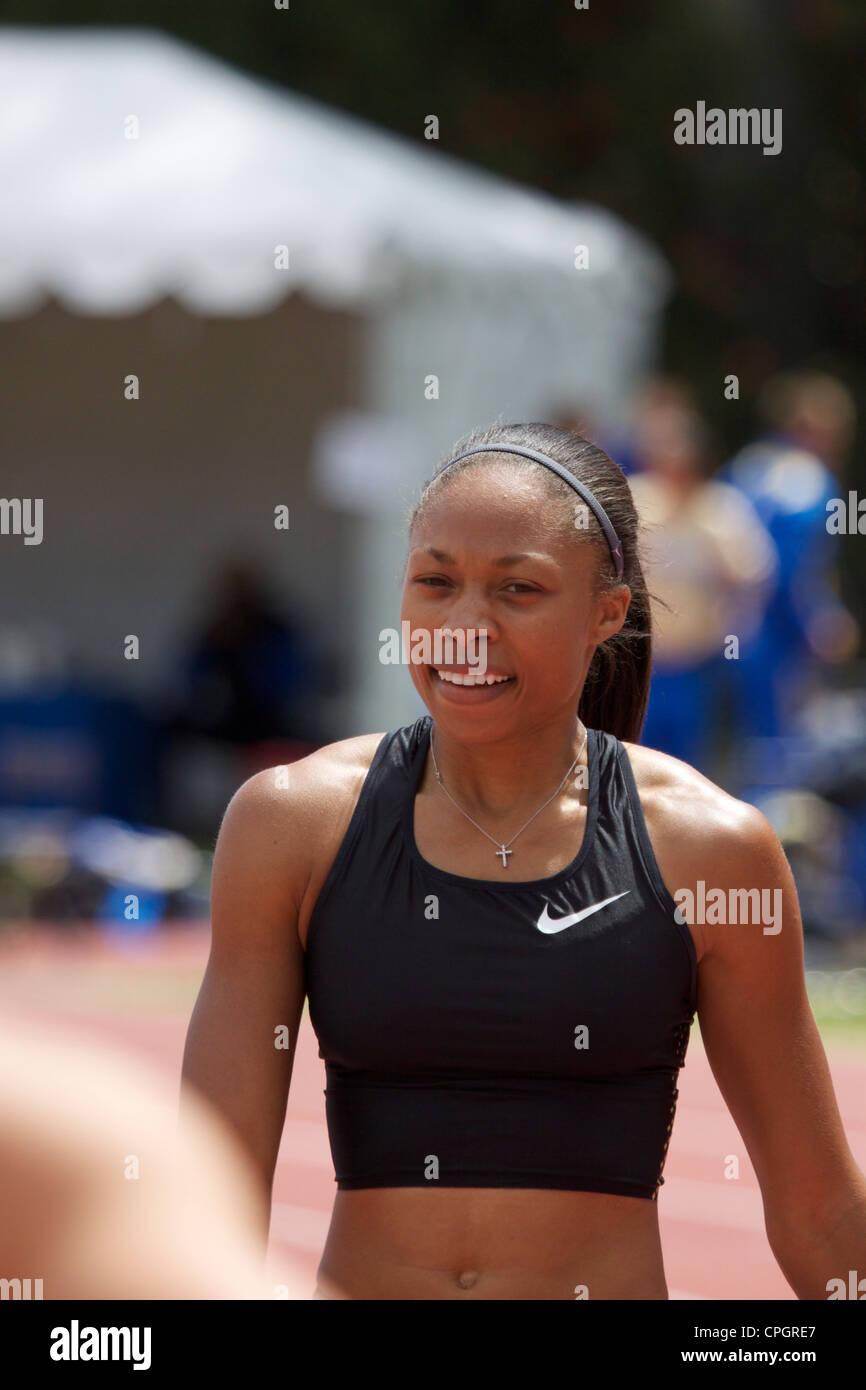 American track and field runner Sprinter Allyson Felix - Stock Image