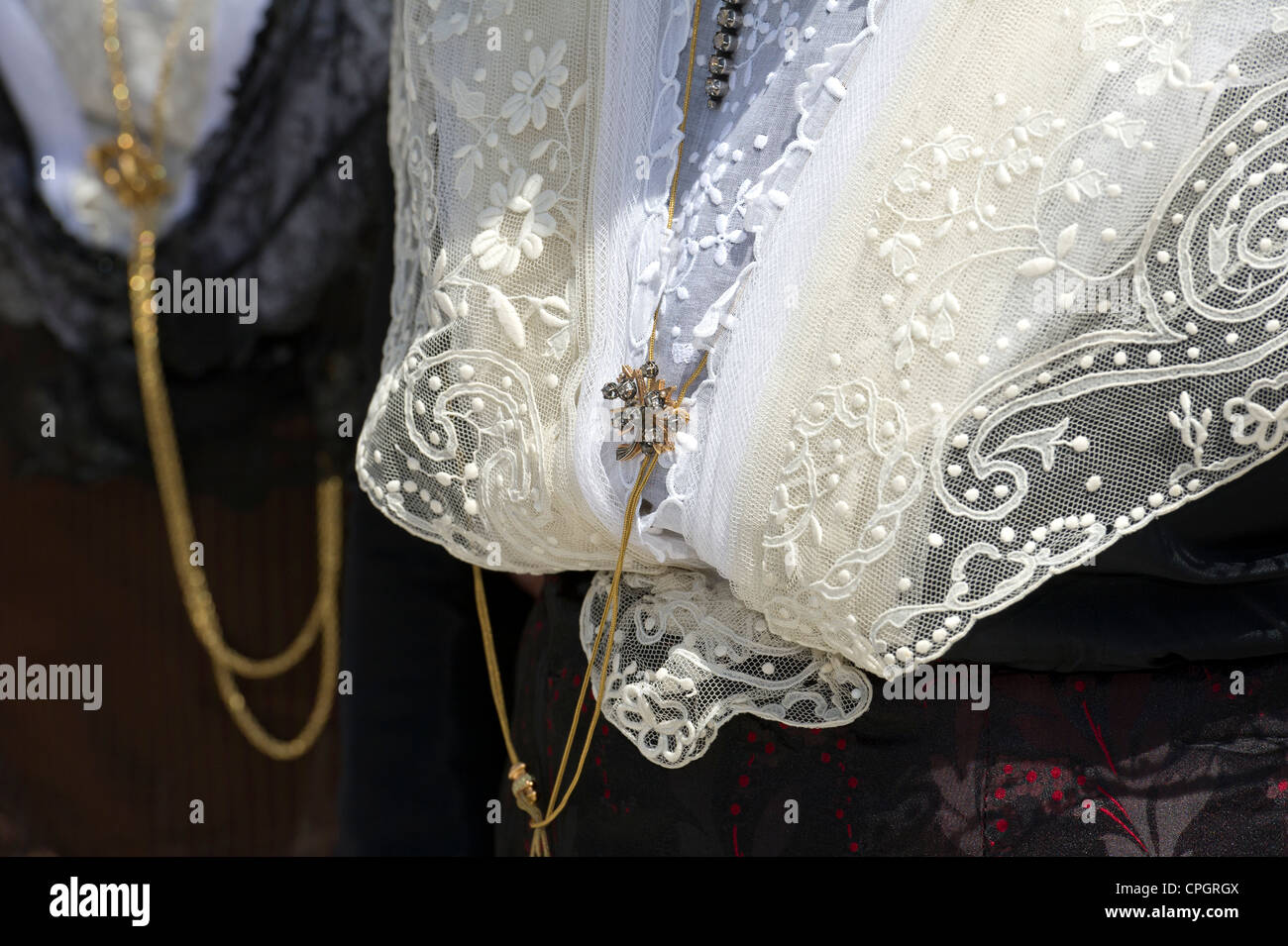 France, Bouches du Rhone (13), Arles, costume Day, costume detail. - Stock Image