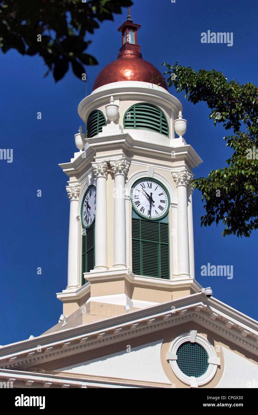 PUERTO RICO - Mayaguez Plaza Colon The Town Hall - Stock Image