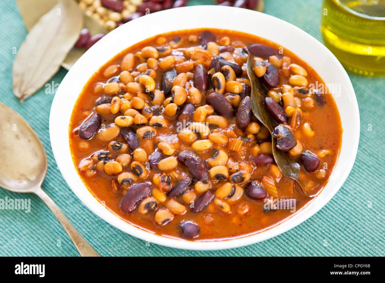 Bean stew - Stock Image