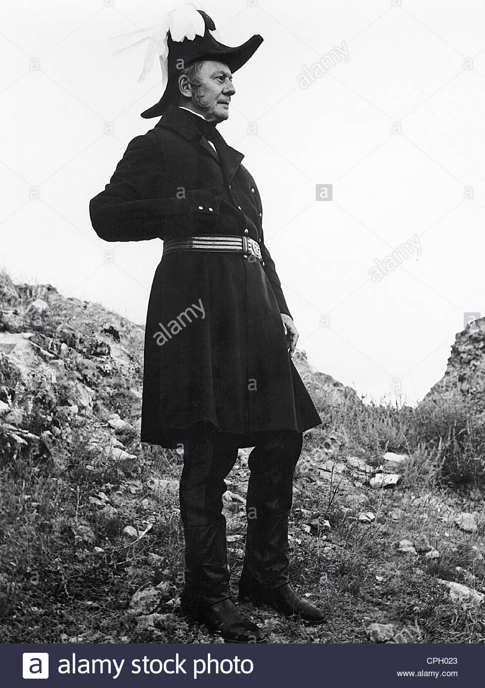 Gielgud, John, 14.4.1904 - 21.5.2000, British actor, during the shooting of the film 'The Charge of the Light - Stock Image