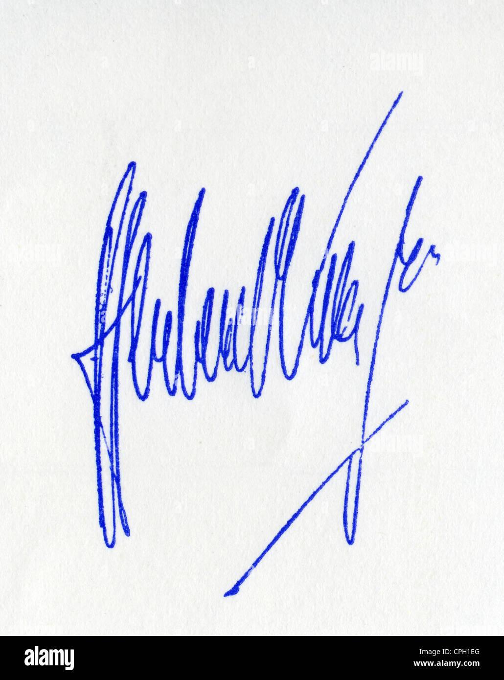 Karajan, Herbert von, 5.4.1908 - 16.7.1989, Austrian musician (conductor), his signature, Stock Photo