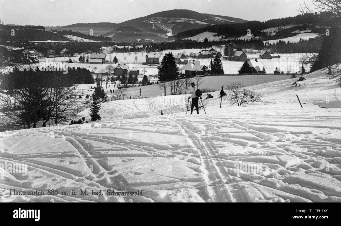 geography / travel, Germany, Hinterzarten, townscape, winter, circa 1950, Additional-Rights-Clearences-NA - Stock Image