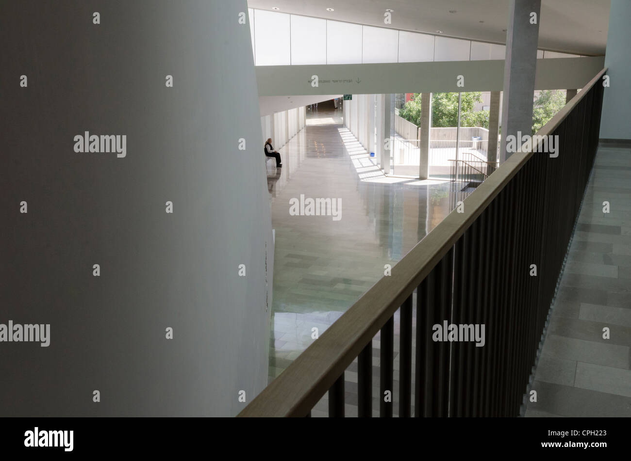 The interior of the new wing of theTel Aviv Museum of Art on May 8, 2012 in Tel Aviv, Israel. - Stock Image