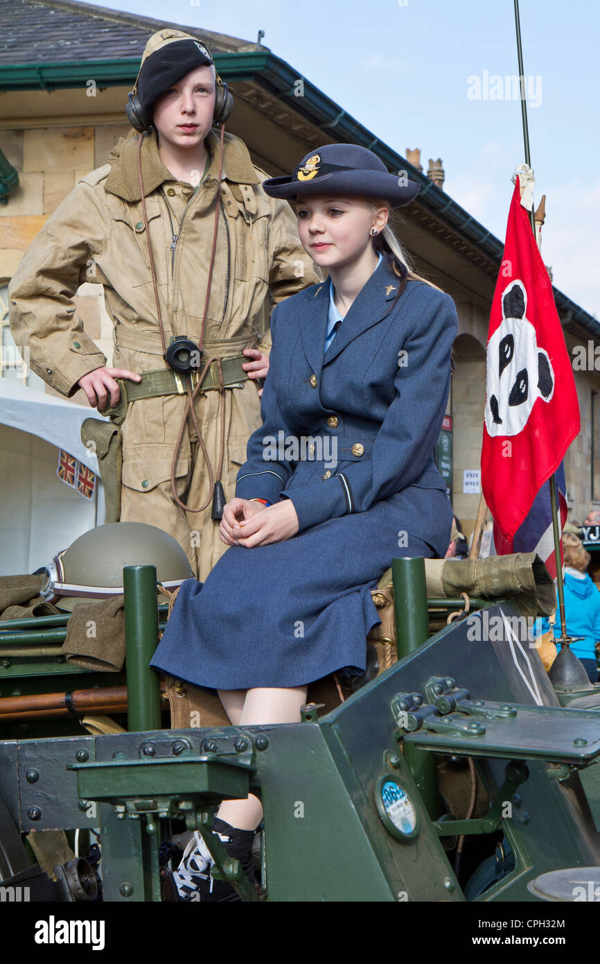 Young Serviceman and Servicewomen - Stock Image