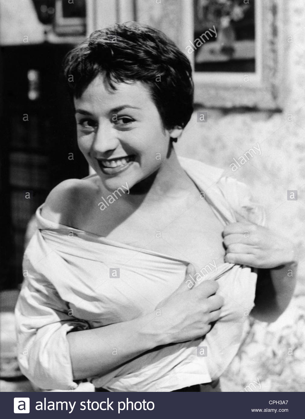 Girardot, Annie, 25.10.1931 - 28.2.2011, French actress, half length, to the movie 'The Man with the Golden - Stock Image