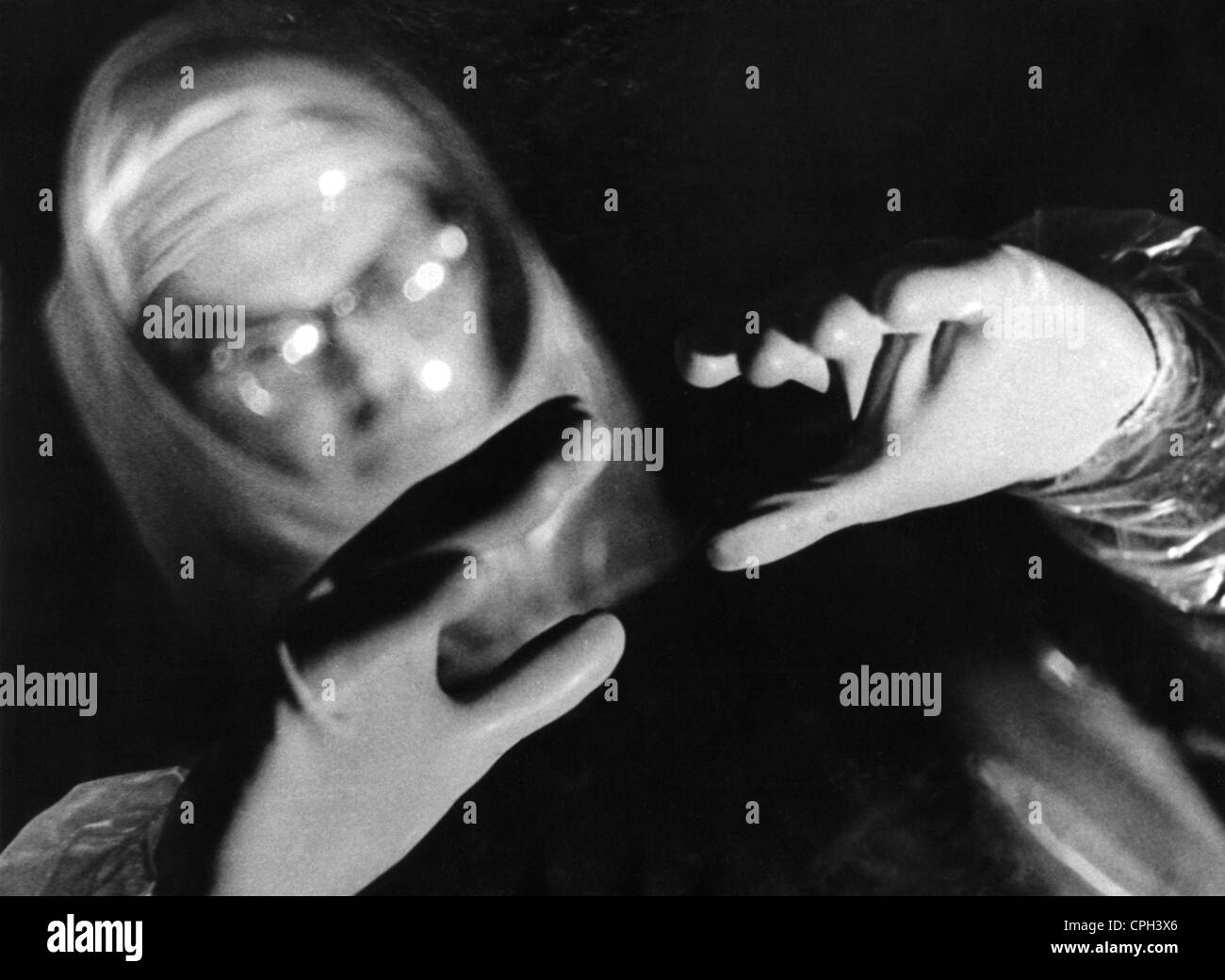 science, sciences, nuclear research, radiation suit, 1950s, Additional-Rights-Clearences-NA - Stock Image