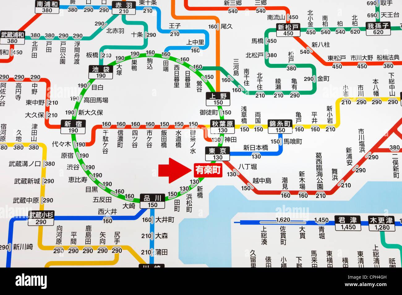 Train Map Tokyo Stock Photos Train Map Tokyo Stock Images Alamy