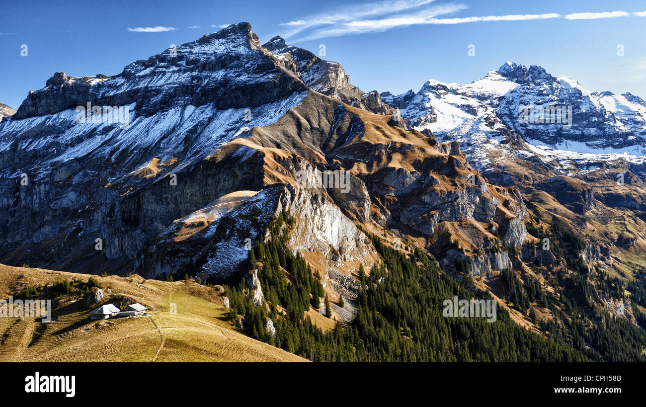 Aabeberg Alps Bernese Alps High Mountains Cabin