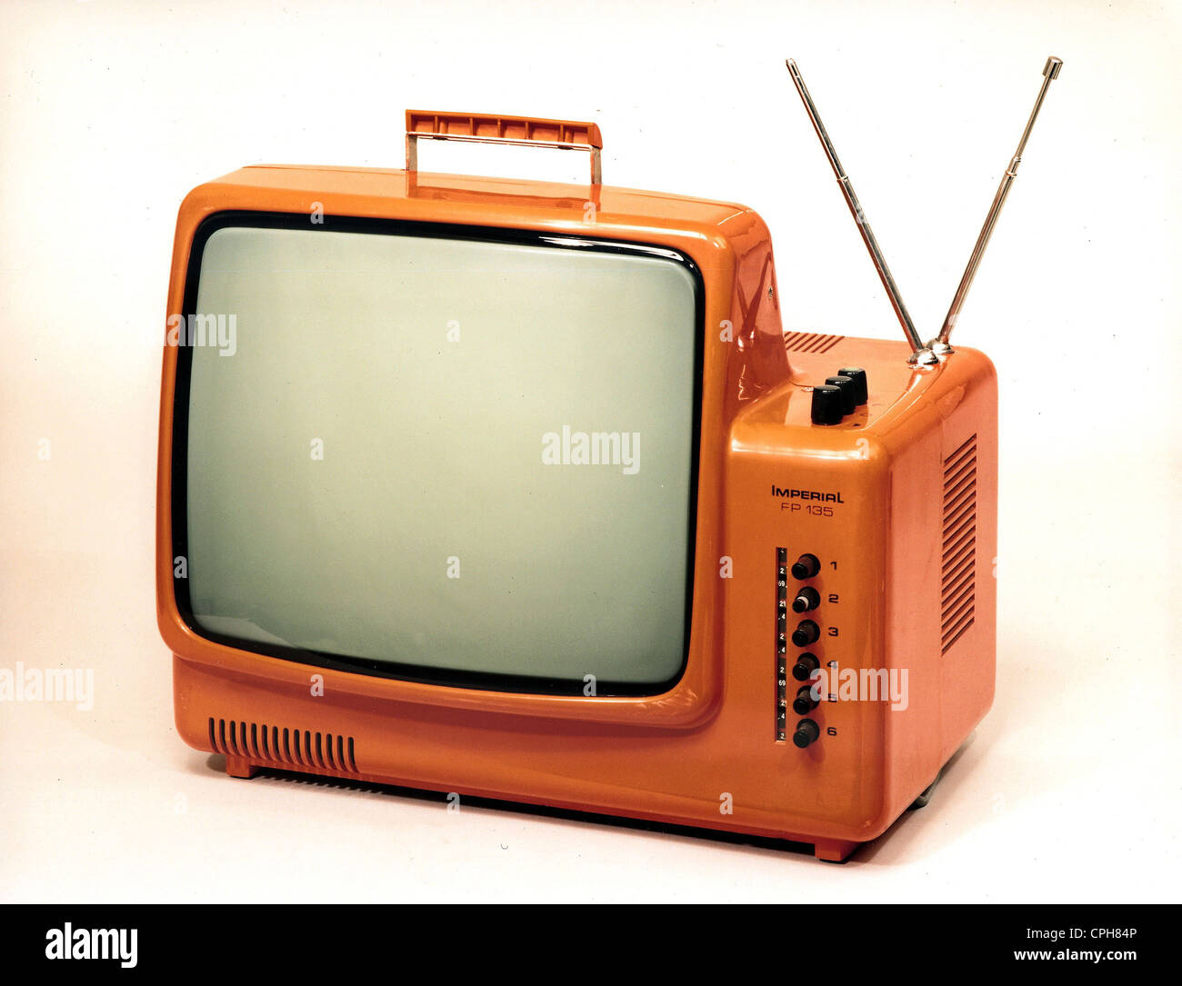 Television Set 1970s Stock Photos & Television Set 1970s
