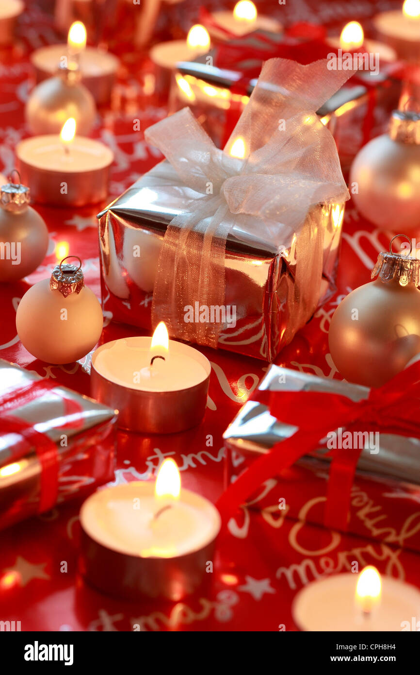 Decoration Present Presents Glitter Candles Light
