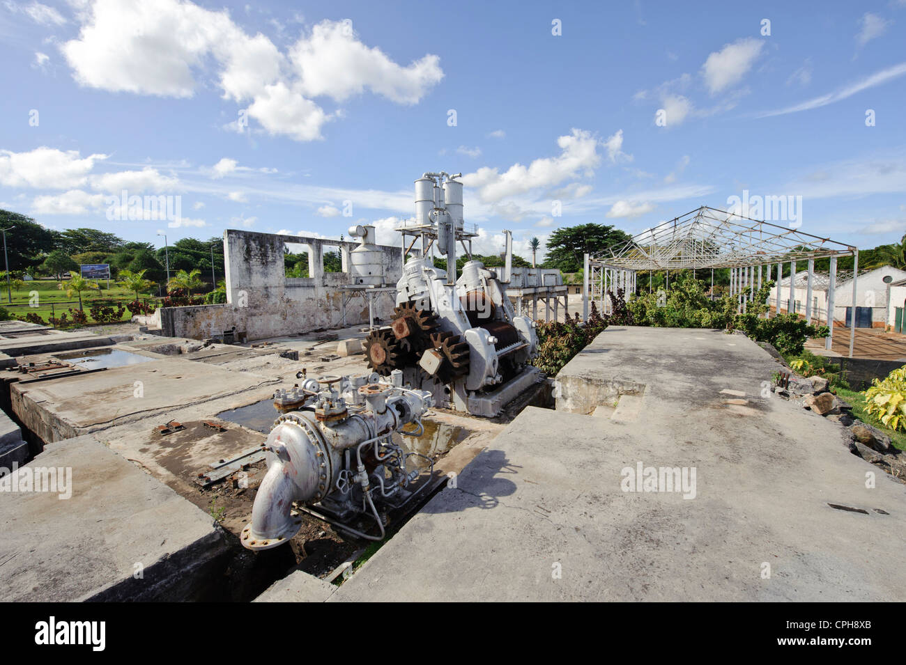 Maurice, Mauritius, Africa, Indian ocean, disintegrate, sugar factory, Bel Ombre - Stock Image