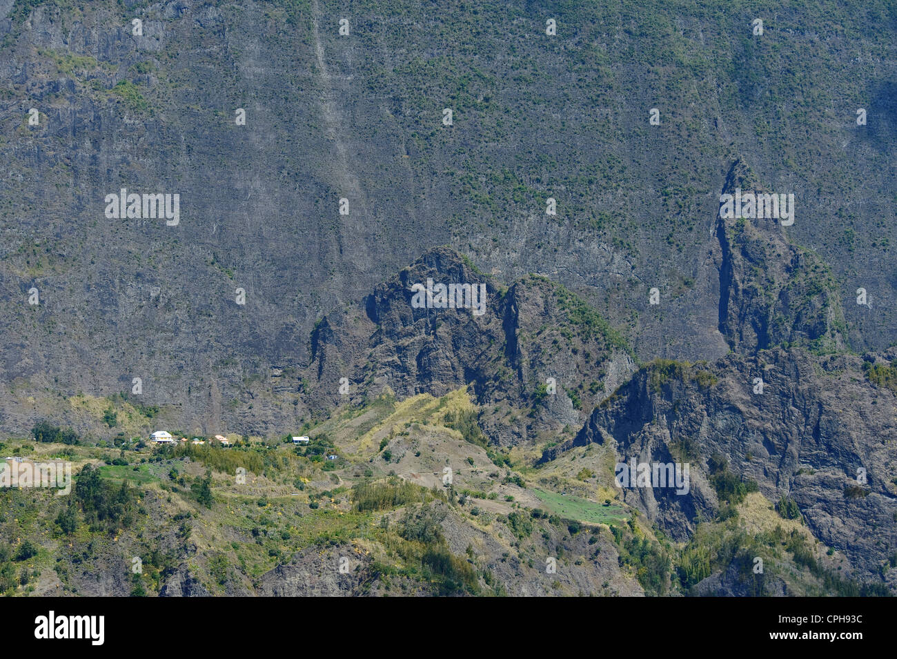 hollow, Cilaos, Africa, Indian ocean, La Reunion, scenery, volcanically - Stock Image