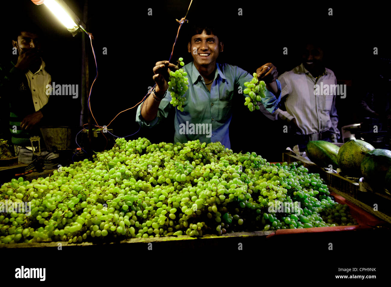Seller on the nightmarket - Stock Image