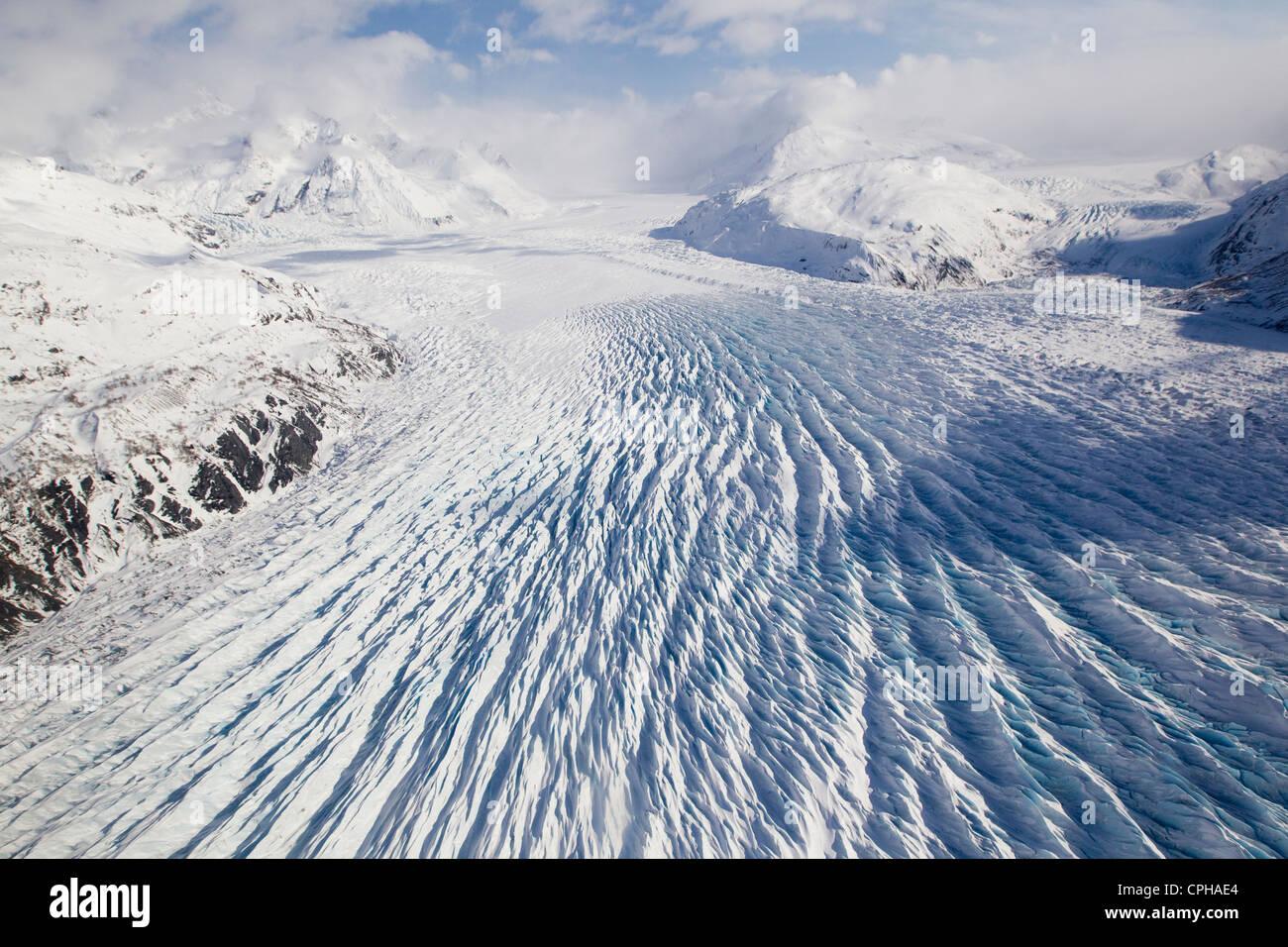 Knik Glacier, ice Chugach Mountains, Alaska - Stock Image