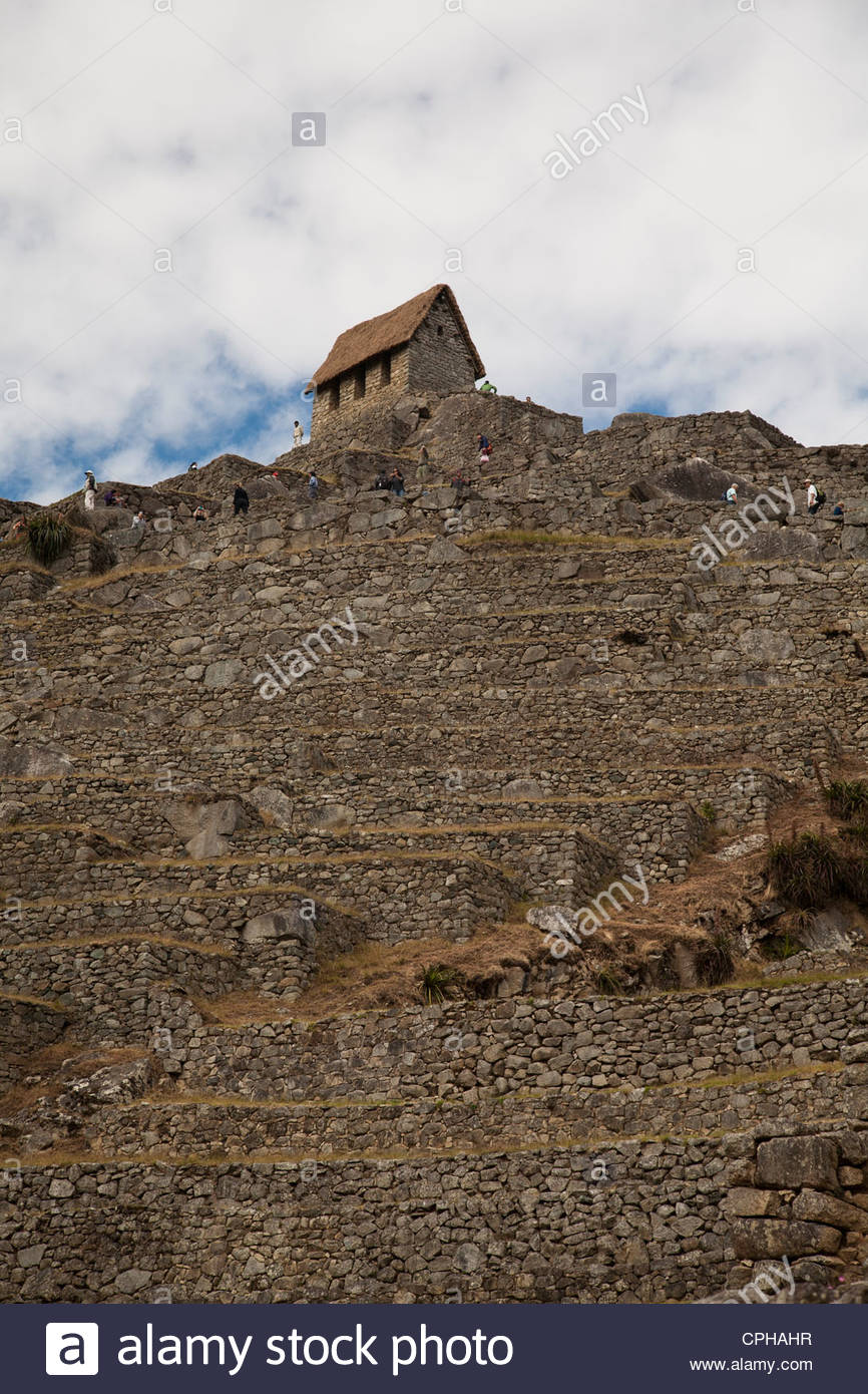 High In The Andes Mountains Of Peru The Watchman S Hut At Machu