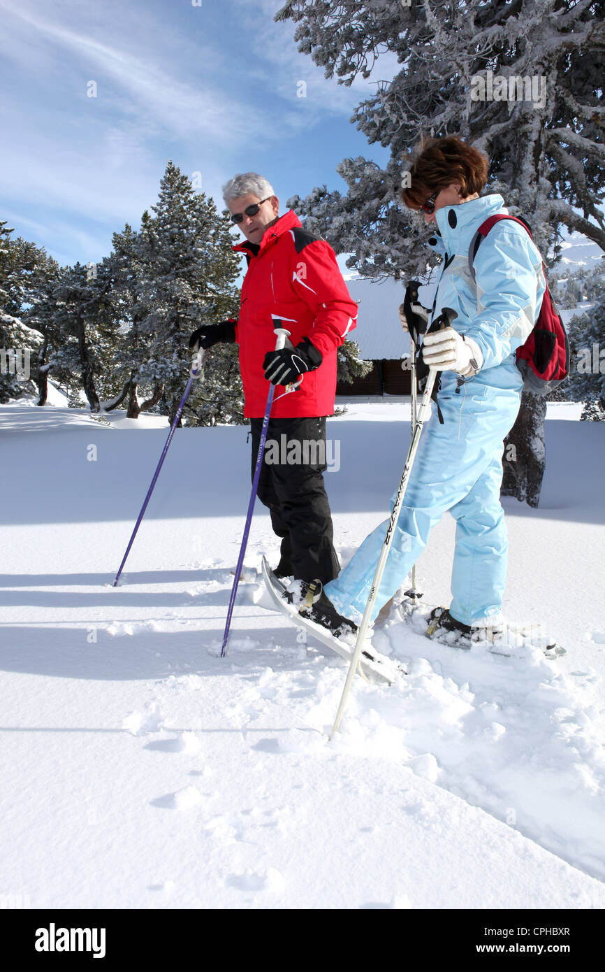 Senior ski couple - Stock Image