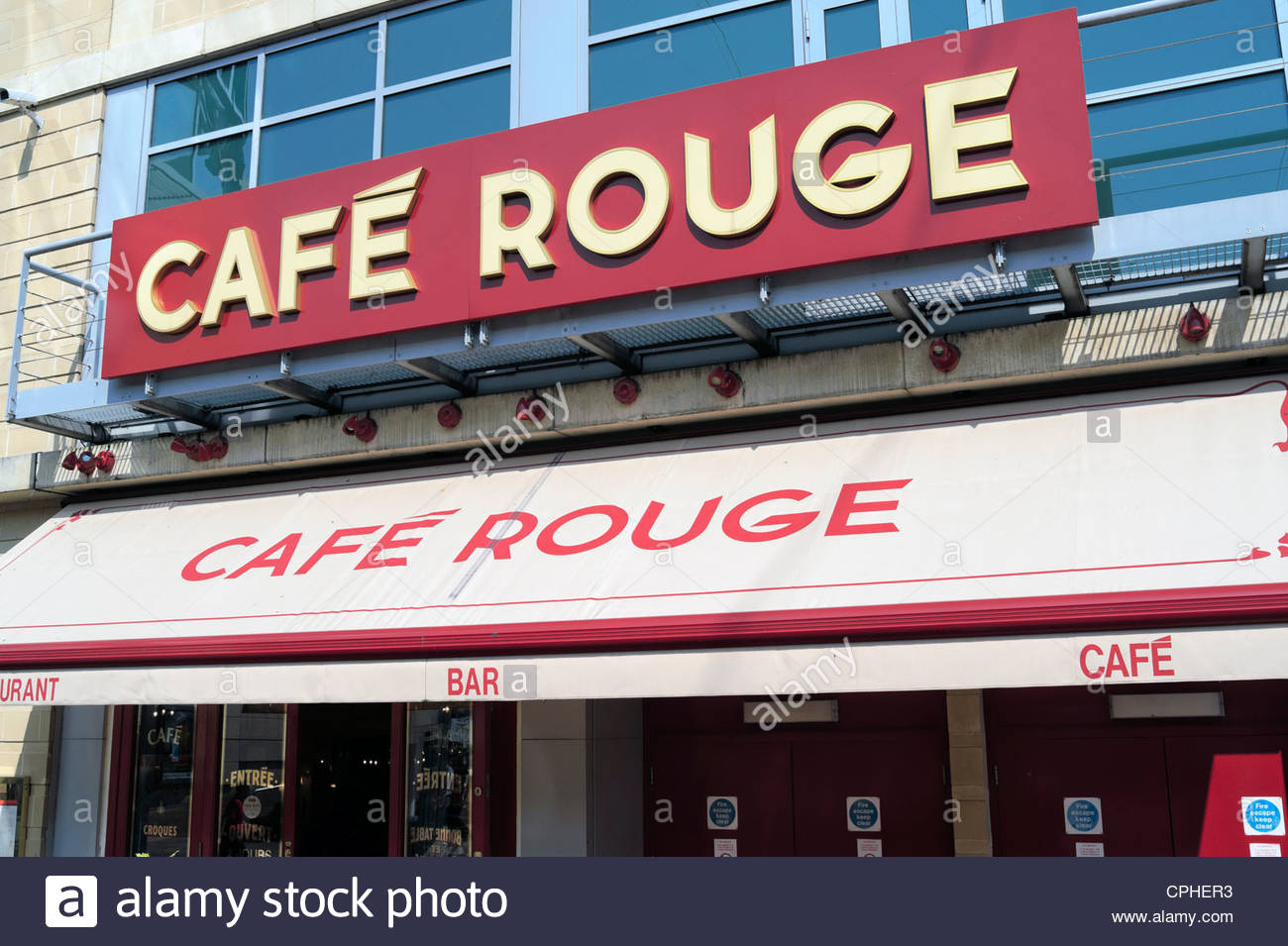 Cafe Rouge  in Reading, Berkshire, UK - Stock Image