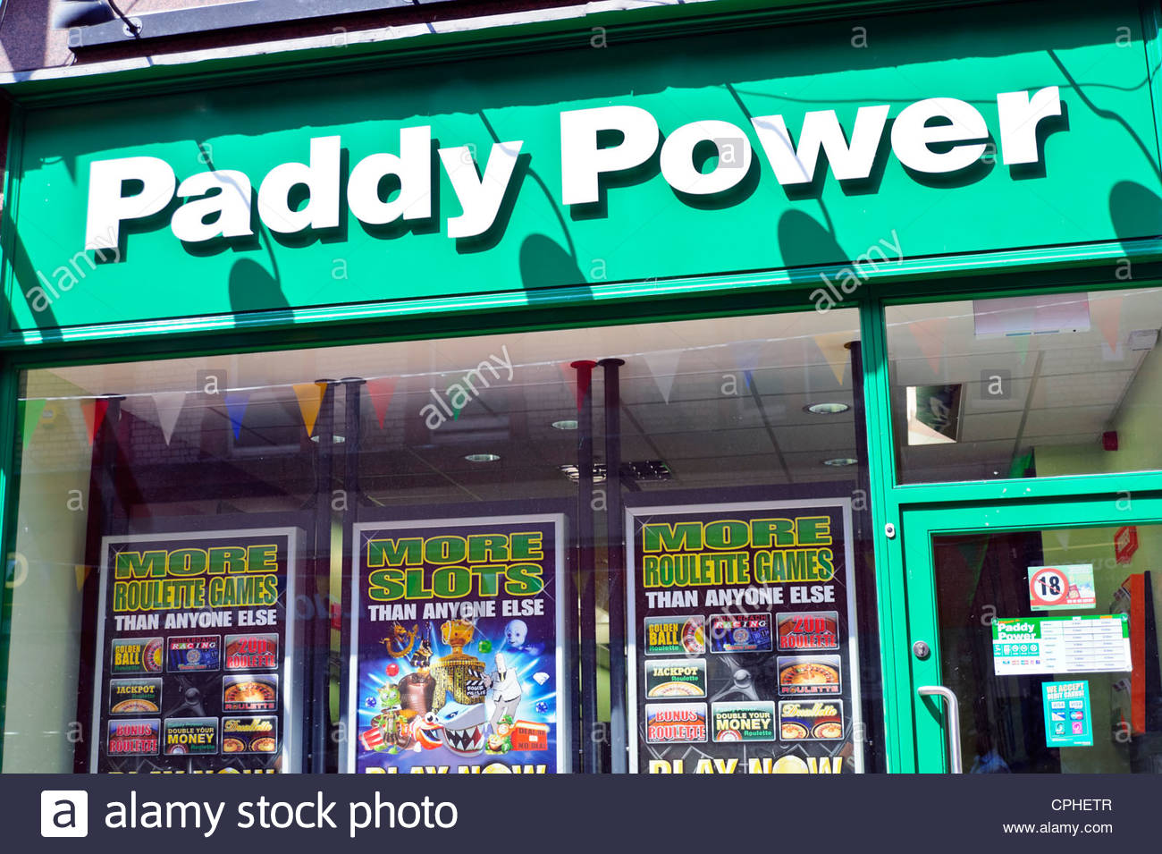 Paddy Power bookies in Reading, Berkshire, UK - Stock Image