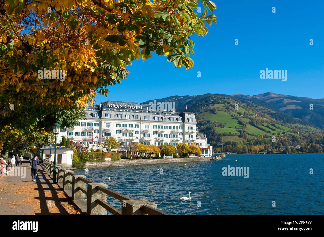 Salzburg country, Austria, Europe, outdoors, outside, day, autumn, autumnal, autumn colors, nobody, Alps, Grand Stock Photo