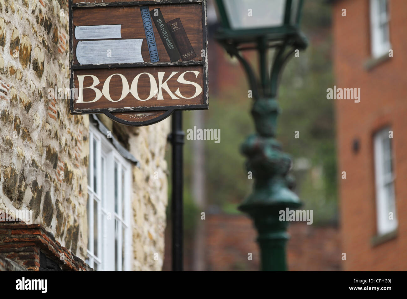 Bookshop Sign Old Secondhand Bookseller - Stock Image
