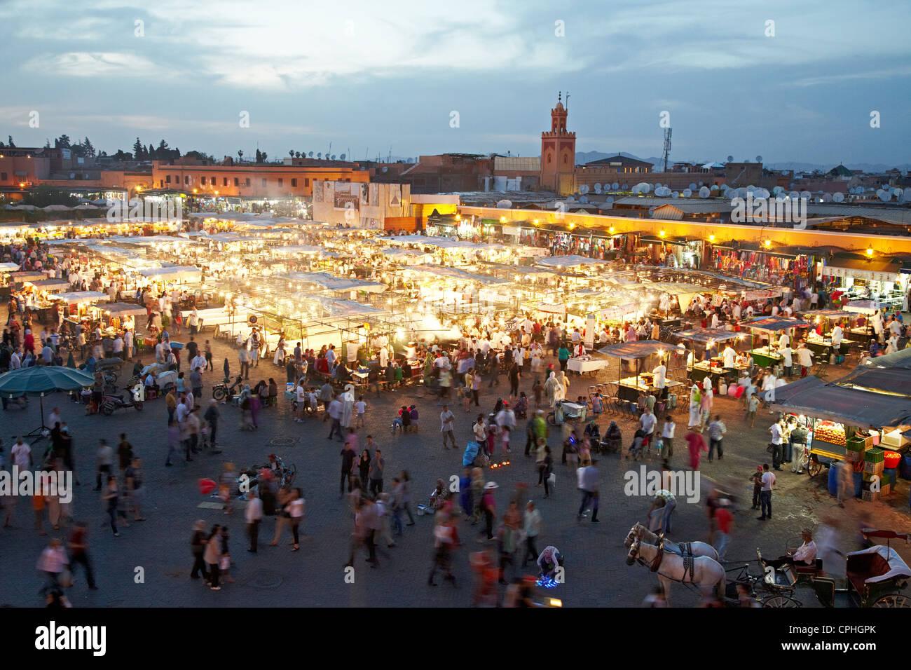 Jamaa El-Fnaa Square Marrakesh Morocco Stock Photo