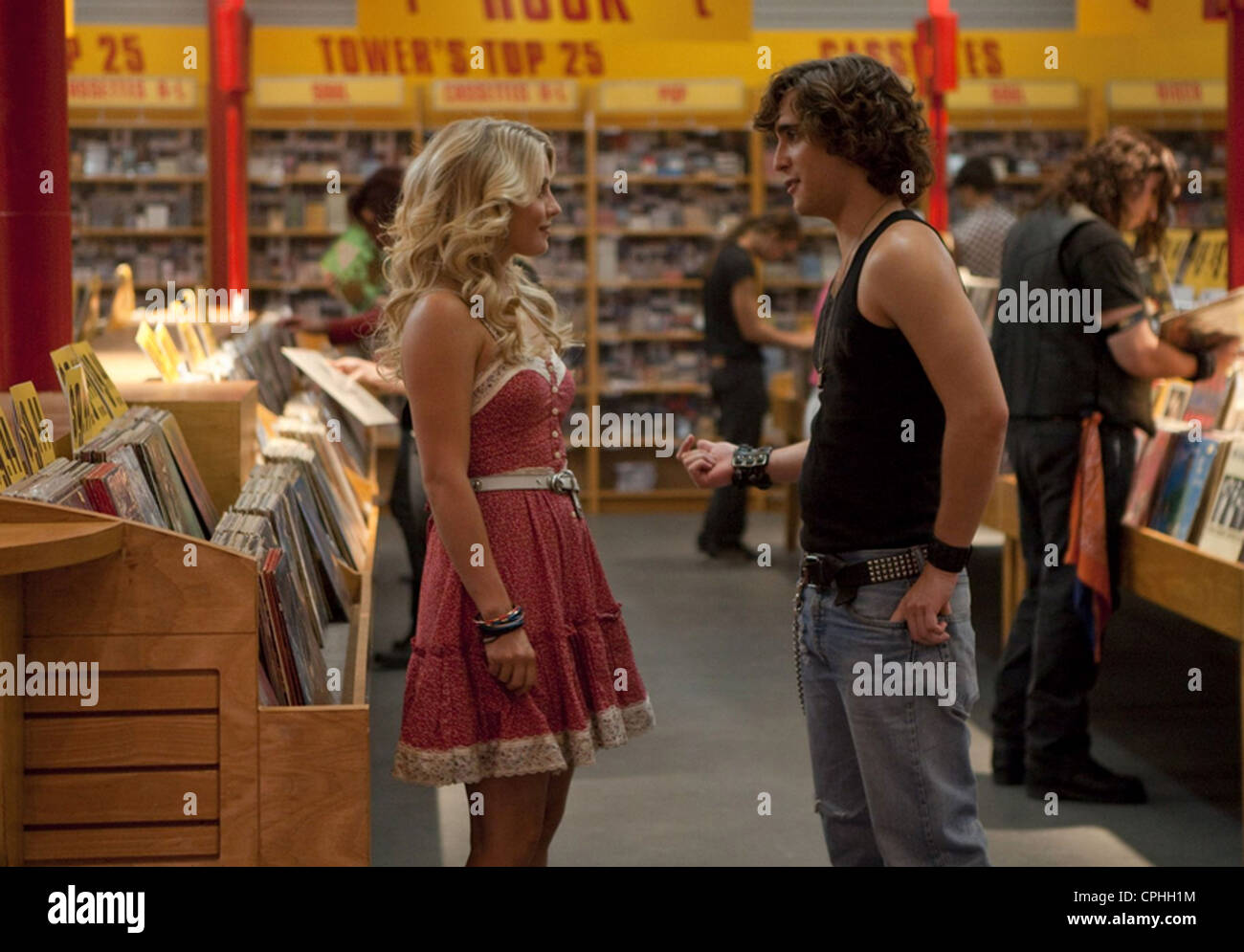 ROCK OF AGES 2012 Warner Bros film with Julianne Hough as Sherrie Christian and Diego Bonita as Drew Boley - Stock Image