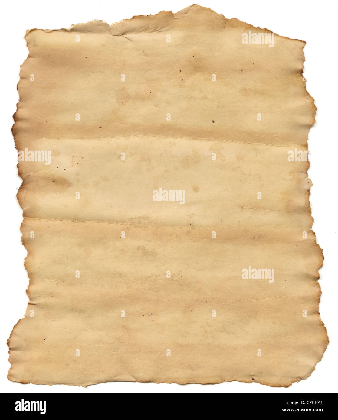 Old torn paper - Stock Image