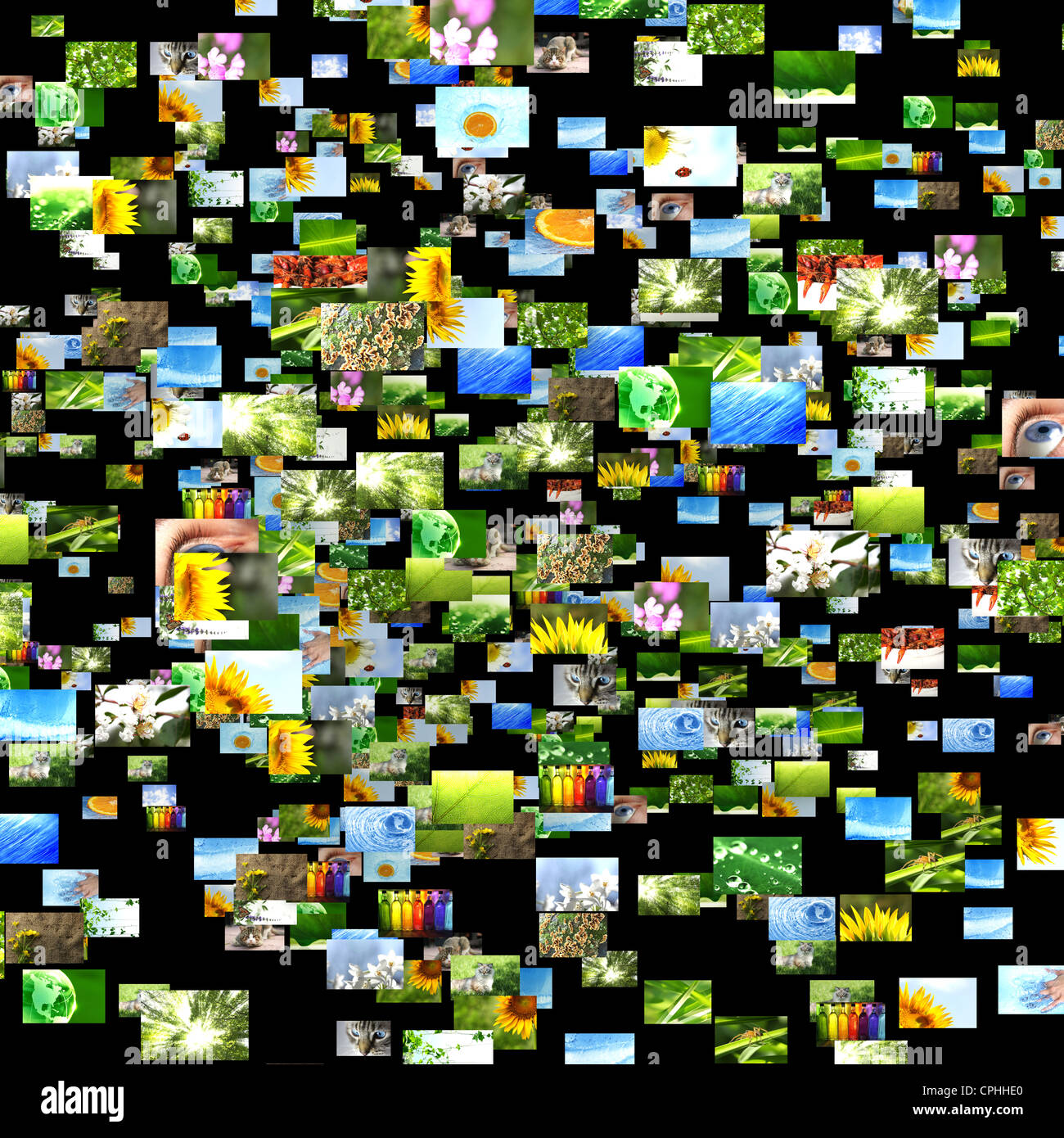 Scattered images - Stock Image